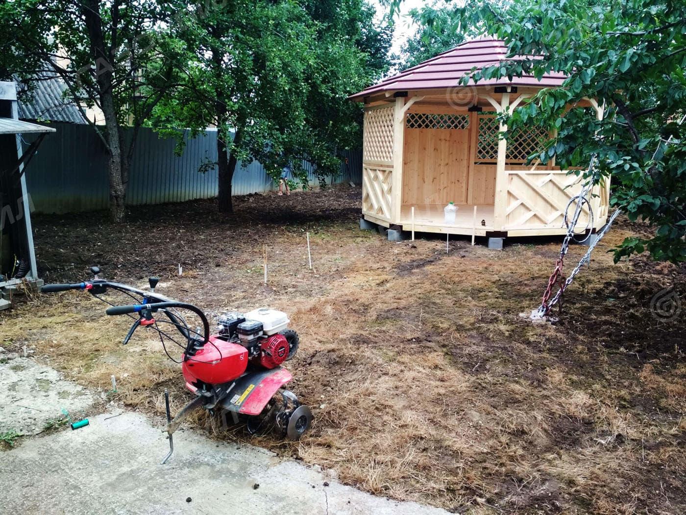 Устройство посевного газона в Балашихе слайдер 2
