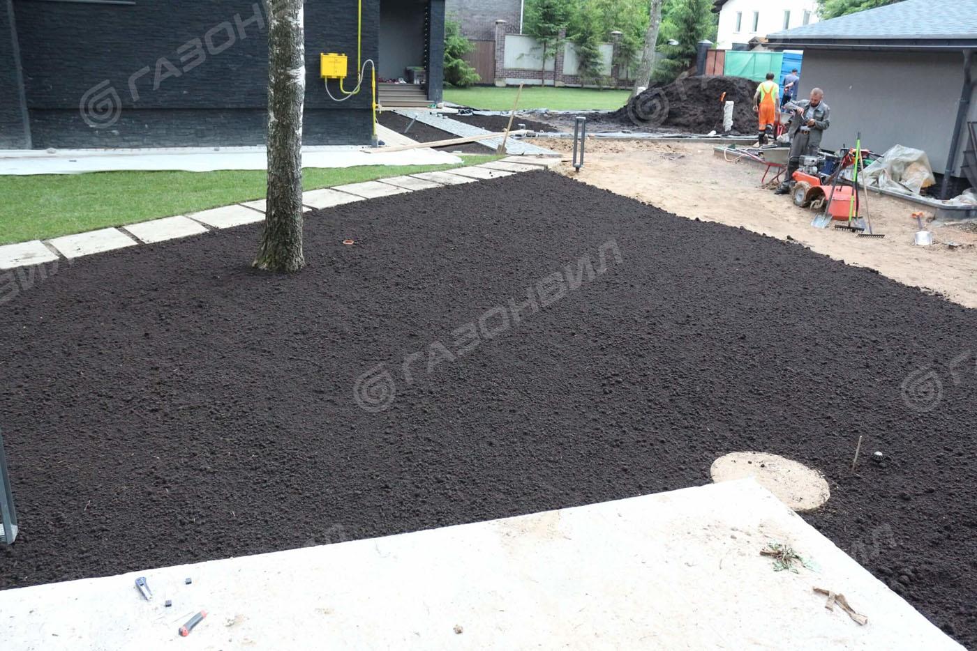 Подготовка почвы под газон в Истре слайдер 2